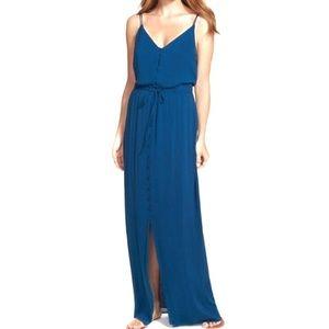 [PAIGE] LYSSA MAXI DRESS BLUE V NECK SIZE S NWT